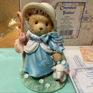 NIB 1993 Little Bo Peep Cherished Teddies Figurine